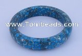 CGB209 Inner diameter 60mm fashion flower turquoise gemstone bangle