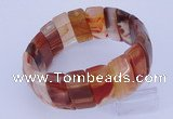 CGB232 8 inches 12*25mm rectangle red agate gemstone bracelet