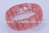 CGB236 8 inches 12*25mm rectangle cherry quartz gemstone bracelet