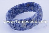CGB238 8 inches 12*25mm rectangle blue spot gemstone bracelet