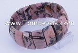 CGB239 8 inches 12*25mm rectangle rhodonite gemstone bracelet