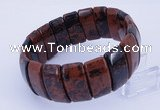 CGB241 8 inches 12*25mm rectangle mahogany obsidian gemstone bracelet
