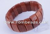 CGB242 8 inches 12*25mm rectangle goldstone bracelet jewelry