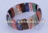 CGB245 8 inches 12*25mm rectangle mixed gemstone bracelet
