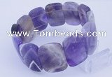 CGB251 8 inches 18*25mm faceted rectangle amethyst gemstone bracelet