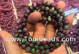 CGB2518 7.5 inches 7mm round ruby zoisite beaded bracelets