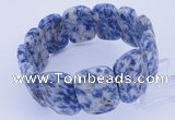 CGB252 8 inches 18*25mm faceted rectangle blue spot gemstone bracelet