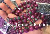 CGB2529 7.5 inches 11mm round ruby zoisite beaded bracelets