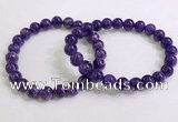 CGB2552 7.5 inches 8mm round charoite gemstone beaded bracelets