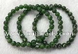CGB2616 7.5 inches 7mm round diopside quartz beaded bracelets