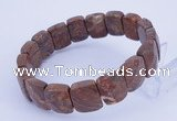 CGB269 7.5 inches 11*15mm faceted rectangle jasper gemstone bracelet