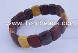 CGB270 7.5 inches 11*15mm faceted rectangle mookaite gemstone bracelet