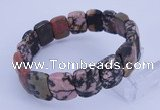 CGB271 7.5 inches 11*15mm faceted rectangle rhodonite gemstone bracelet