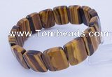 CGB276 7.5 inches 13*18mm faceted rectangle tiger eye gemstone  bracelet