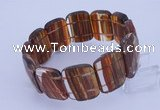 CGB285 8 inches 18*25mm faceted rectangle quartz gemstone bracelet