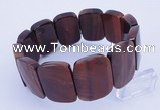 CGB287 8 inches 18*25mm faceted rectangle tiger eye gemstone bracelet