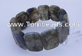 CGB289 8 inches 18*25mm faceted rectangle labradorite gemstone bracelet