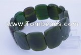 CGB295 8 inches 18*25mm faceted rectangle agate gemstone bracelet