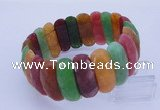 CGB309 8 inches 9*29mm faceted rectangle candy jade bracelet