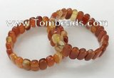 CGB3104 7.5 inches 8*15mm oval agate gemstone bracelets