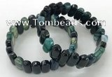 CGB3107 7.5 inches 8*15mm oval agate gemstone bracelets
