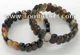 CGB3112 7.5 inches 8*15mm oval agate gemstone bracelets