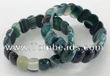 CGB3130 7.5 inches 10*20mm faceted oval agate bracelets