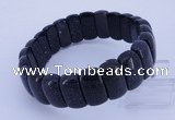 CGB317 8 inches 8*18mm rectangle blue goldstone bracelet