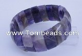 CGB319 8 inches 11*25mm rectangle amethyst gemstone bracelet
