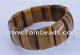 CGB320 8 inches 16*25mm rectangle tiger eye gemstone bracelet