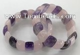 CGB3225 7.5 inches 12*20mm oval mixed quartz bracelets
