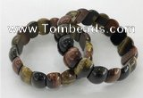 CGB3235 7.5 inches 12*20mm oval mixed tiger eye bracelets