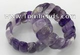 CGB3241 7.5 inches 12*25mm oval amethyst gemstone bracelets