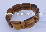 CGB325 8 inches 8mm & 20*22mm tiger eye gemstone bracelet