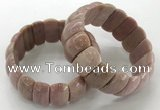 CGB3253 7.5 inches 12*25mm oval rhodochrosite bracelets