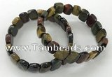 CGB3272 7.5 inches 10*15mm faceted marquise mixed tiger eye bracelets
