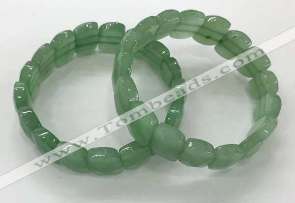 CGB3276 7.5 inches 10*15mm faceted marquise green aventurine bracelets