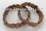 CGB3277 7.5 inches 10*15mm faceted marquise goldstone bracelets