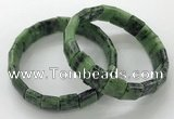 CGB3339 7.5 inches 10*15mm rectangle ruby zoisite bracelets