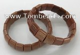 CGB3343 7.5 inches 10*15mm rectangle goldstone bracelets