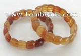 CGB3372 7.5 inches 10*15mm oval red agate bracelets