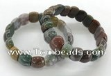 CGB3375 7.5 inches 10*15mm oval Indian agate bracelets