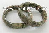 CGB3410 7.5 inches 15*21mm unakite gemstone bracelets