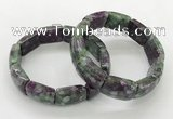 CGB3415 7.5 inches 15*21mm imitation ruby zoisite bracelets