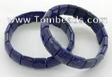 CGB3436 7.5 inches 12*15mm faceted rectangle lapis lazuli bracelets