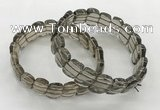 CGB3441 7.5 inches 10*15mm faceted marquise smoky quartz bracelets