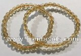 CGB4027 7.5 inches 6mm round citrine beaded bracelets wholesale