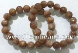 CGB4066 7.5 inches 10mm round sunstone beaded bracelets