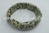 CGB408 8 inches 16*25mm dalmatian jasper gemstone bracelet