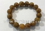 CGB4087 7.5 inches 14mm round golden rutilated quartz beaded bracelets